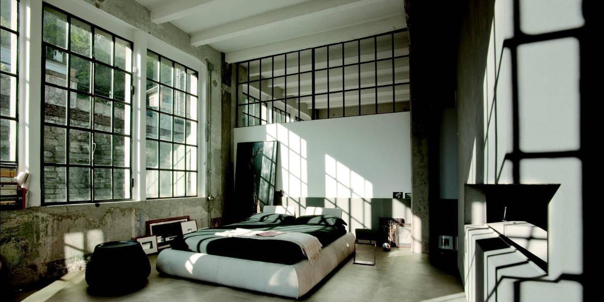 Chambre style industriel : raffinement du minimalisme