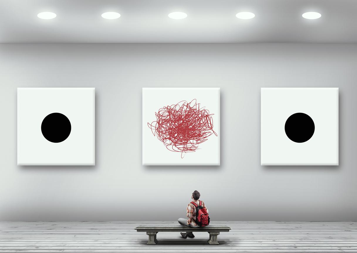 Exposition dans une gallerie d'art