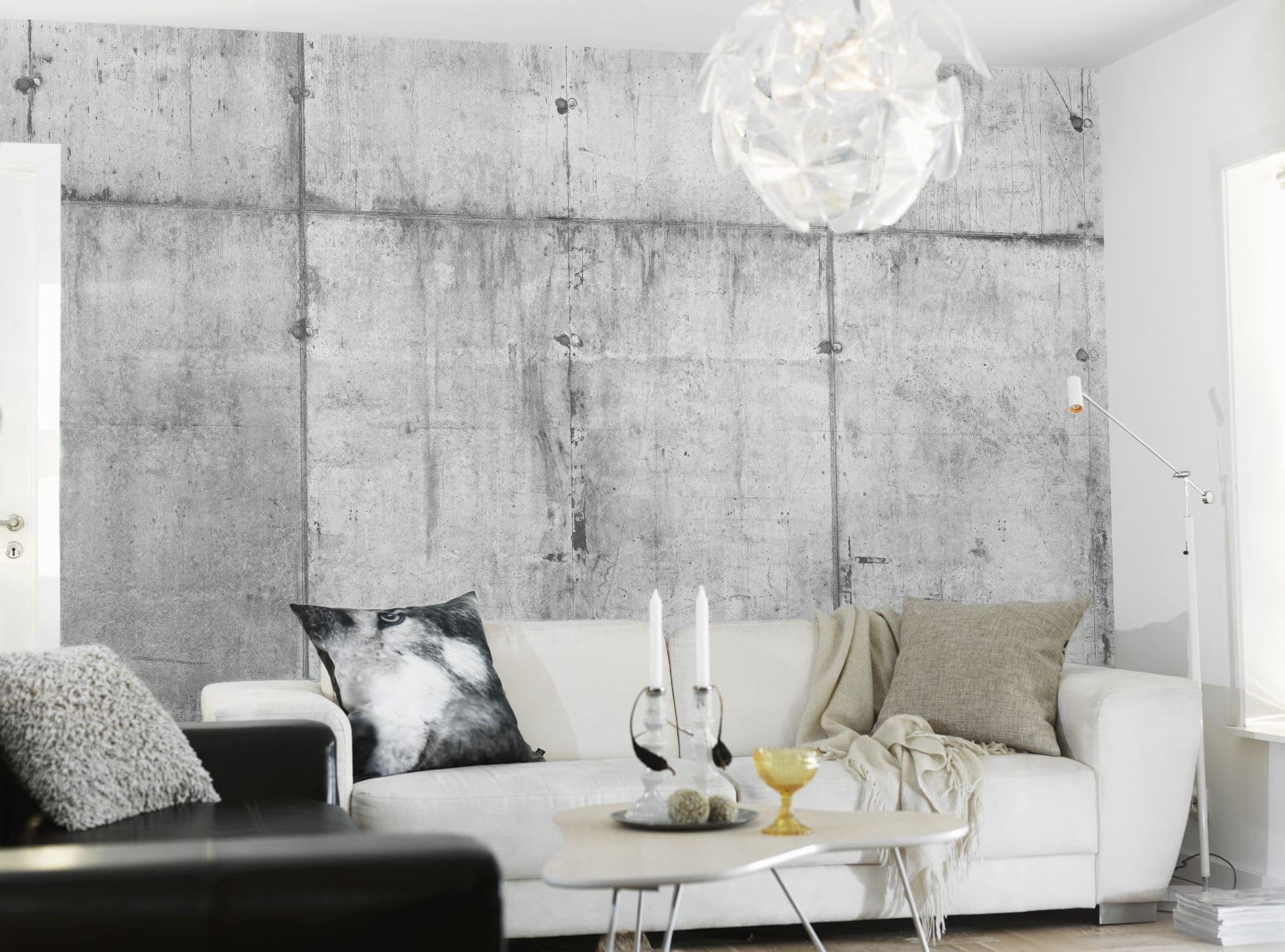 Mur en béton pour un style industriel et minéral