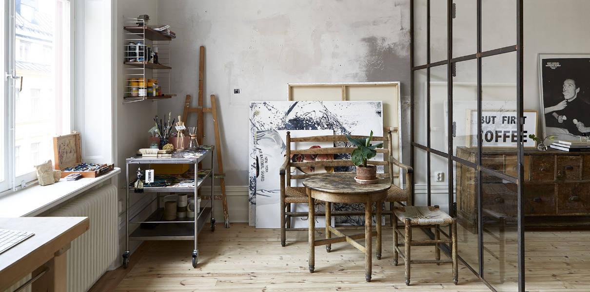 Verrière et atelier d'artiste